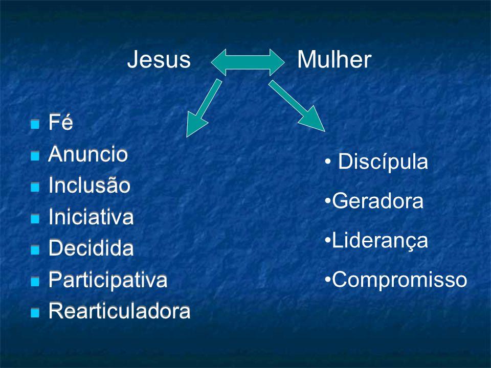 Jesus Mulher Fé Anuncio Inclusão Discípula Iniciativa Geradora