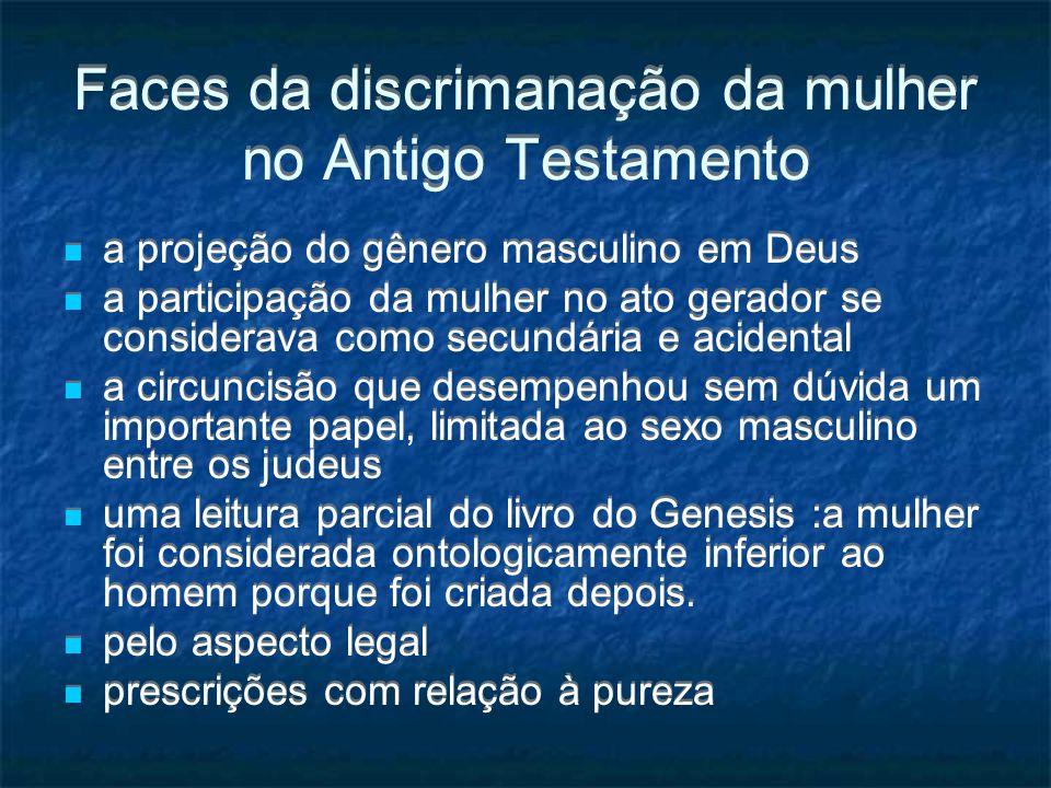 Faces da discrimanação da mulher no Antigo Testamento