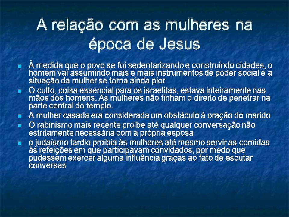 A relação com as mulheres na época de Jesus
