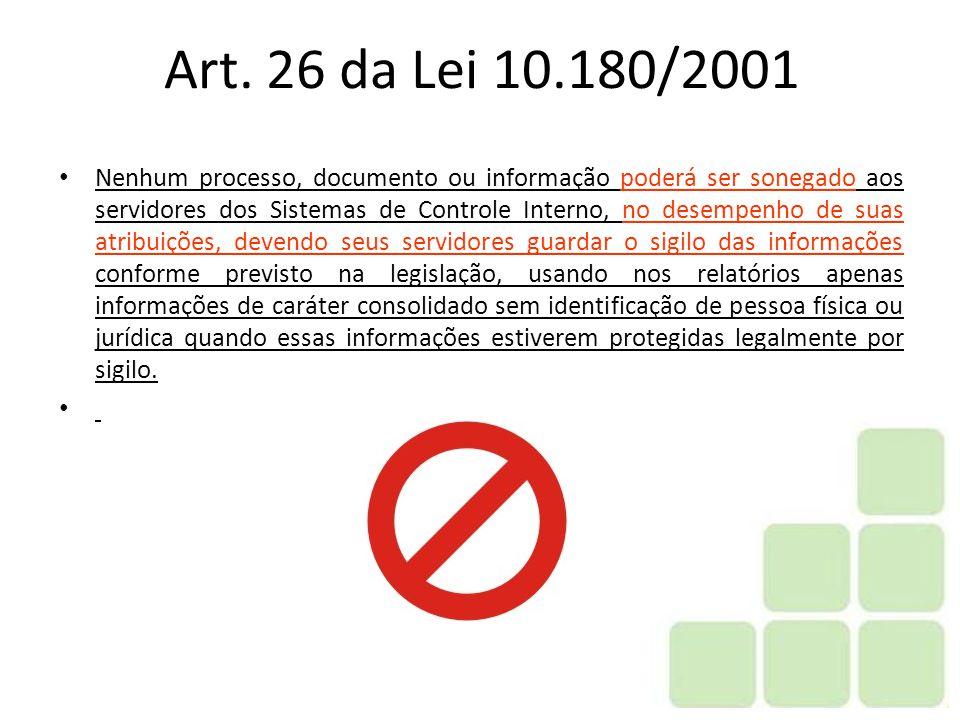 Art. 26 da Lei 10.180/2001