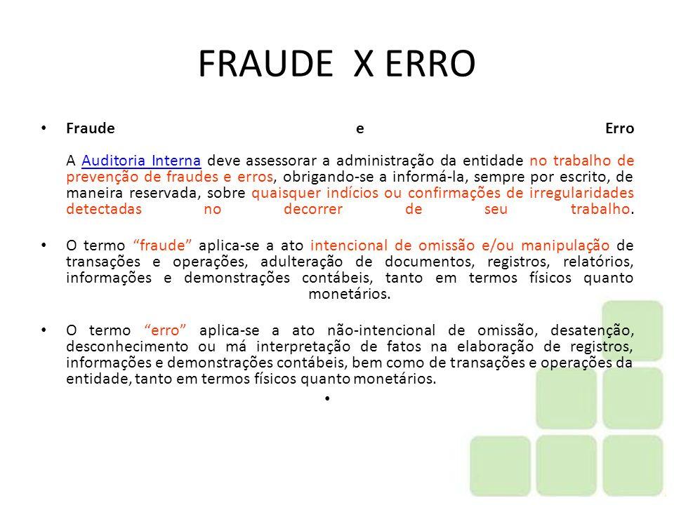 FRAUDE X ERRO
