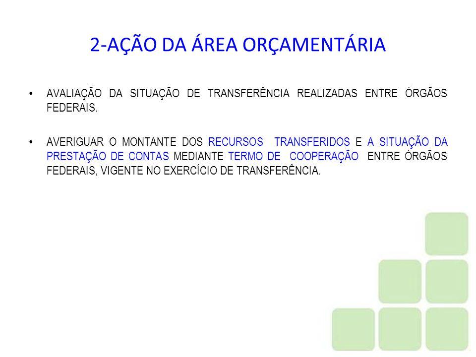 2-AÇÃO DA ÁREA ORÇAMENTÁRIA