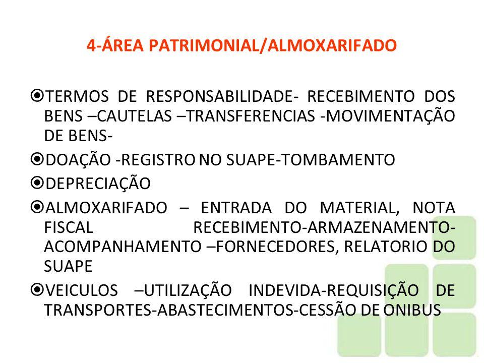 4-ÁREA PATRIMONIAL/ALMOXARIFADO