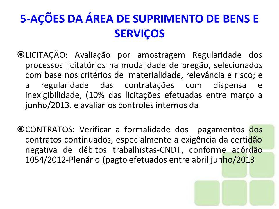 5-AÇÕES DA ÁREA DE SUPRIMENTO DE BENS E SERVIÇOS