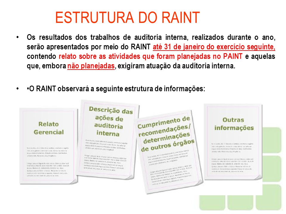 ESTRUTURA DO RAINT