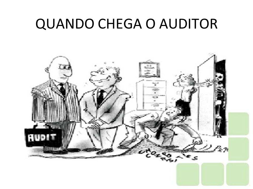 QUANDO CHEGA O AUDITOR