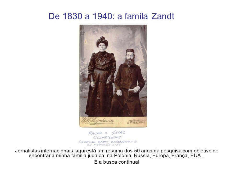 De 1830 a 1940: a famíla Zandt