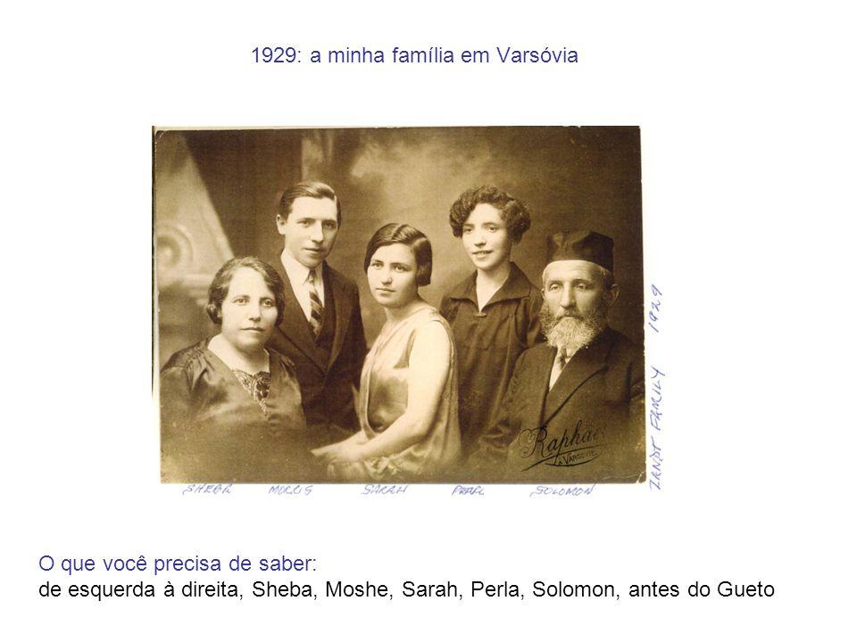 1929: a minha família em Varsóvia