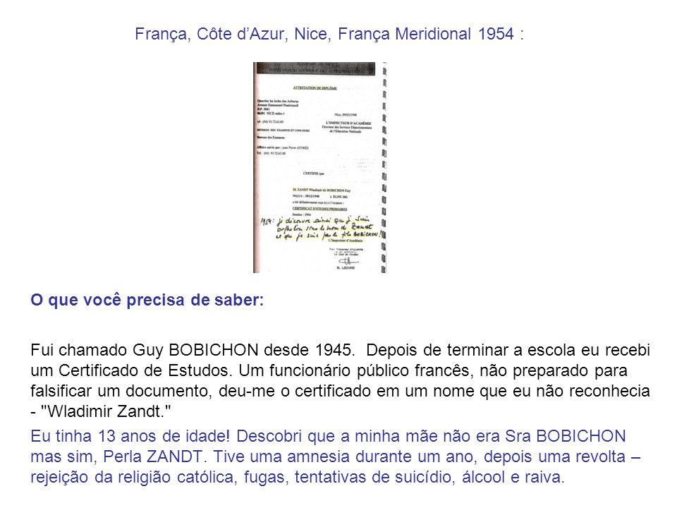 França, Côte d'Azur, Nice, França Meridional 1954 :