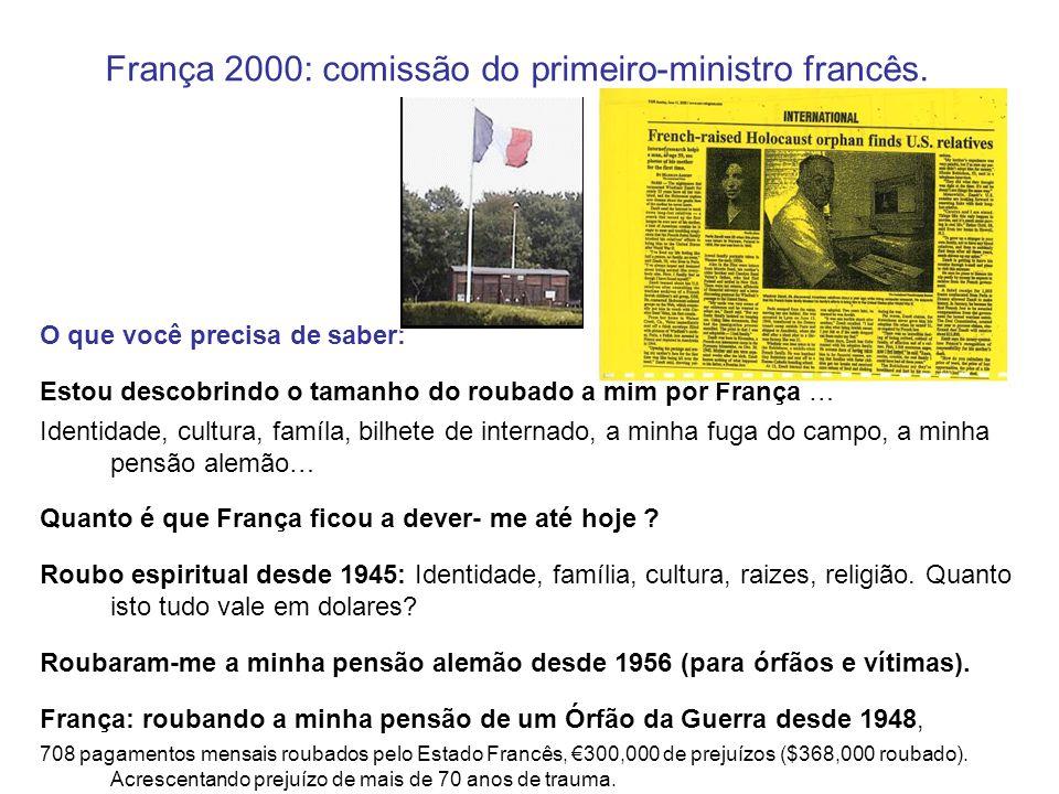 França 2000: comissão do primeiro-ministro francês.