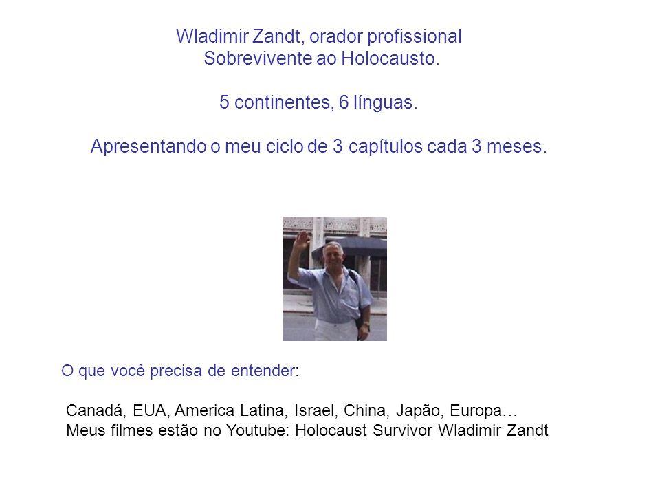 Wladimir Zandt, orador profissional Sobrevivente ao Holocausto