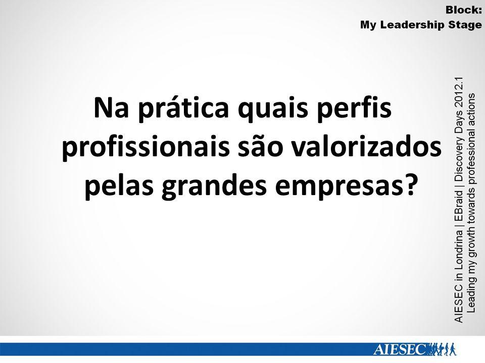 Na prática quais perfis profissionais são valorizados pelas grandes empresas