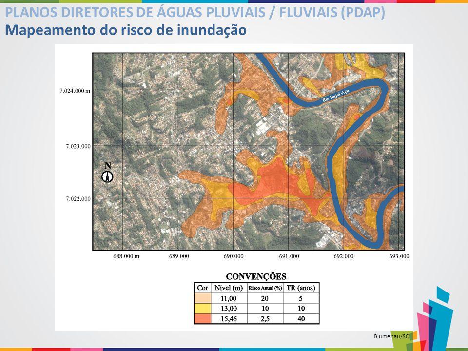 Mapeamento do risco de inundação