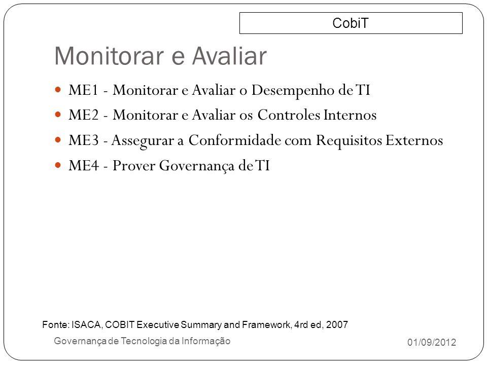 Monitorar e Avaliar ME1 - Monitorar e Avaliar o Desempenho de TI