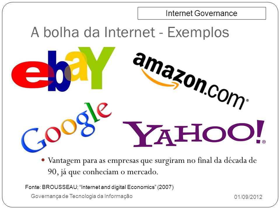 A bolha da Internet - Exemplos