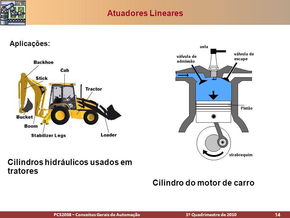 Cilindros hidráulicos usados em tratores