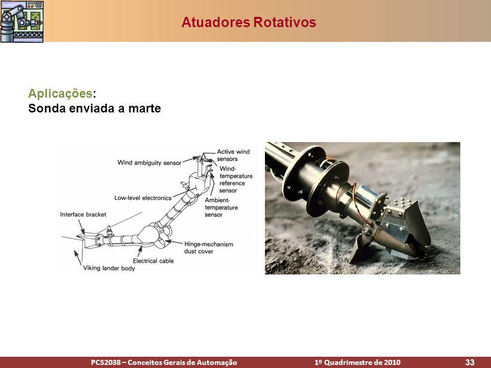 Atuadores Rotativos Aplicações: Sonda enviada a marte
