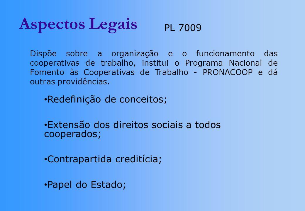 Aspectos Legais PL 7009 Redefinição de conceitos;
