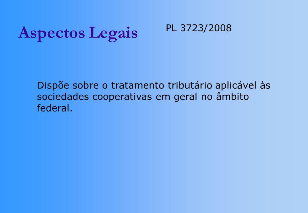 Aspectos Legais PL 3723/2008. Dispõe sobre o tratamento tributário aplicável às.