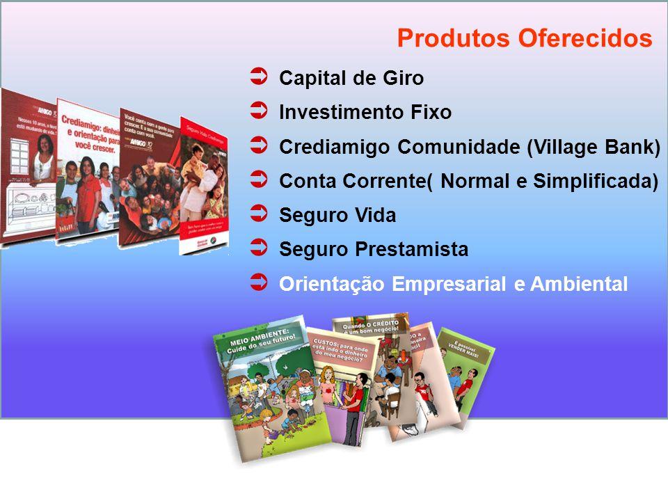 Produtos Oferecidos Capital de Giro Investimento Fixo