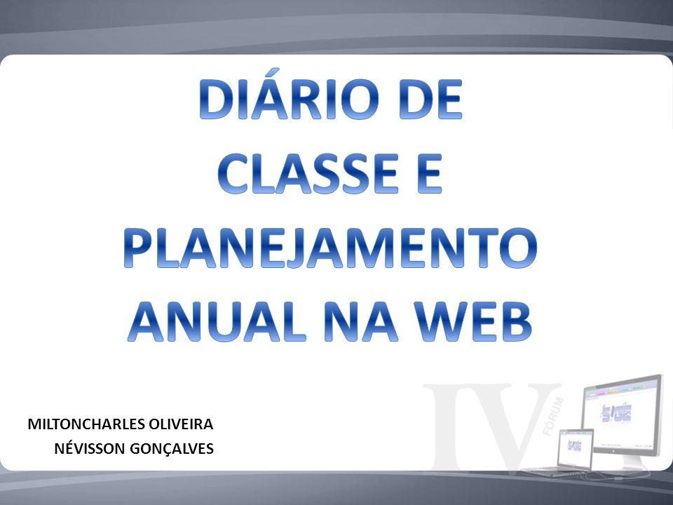 DIÁRIO DE CLASSE E PLANEJAMENTO ANUAL NA WEB