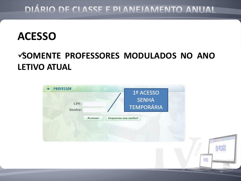 ACESSO SOMENTE PROFESSORES MODULADOS NO ANO LETIVO ATUAL