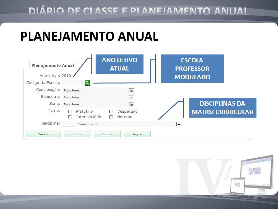 PLANEJAMENTO ANUAL DIÁRIO DE CLASSE E PLANEJAMENTO ANUAL