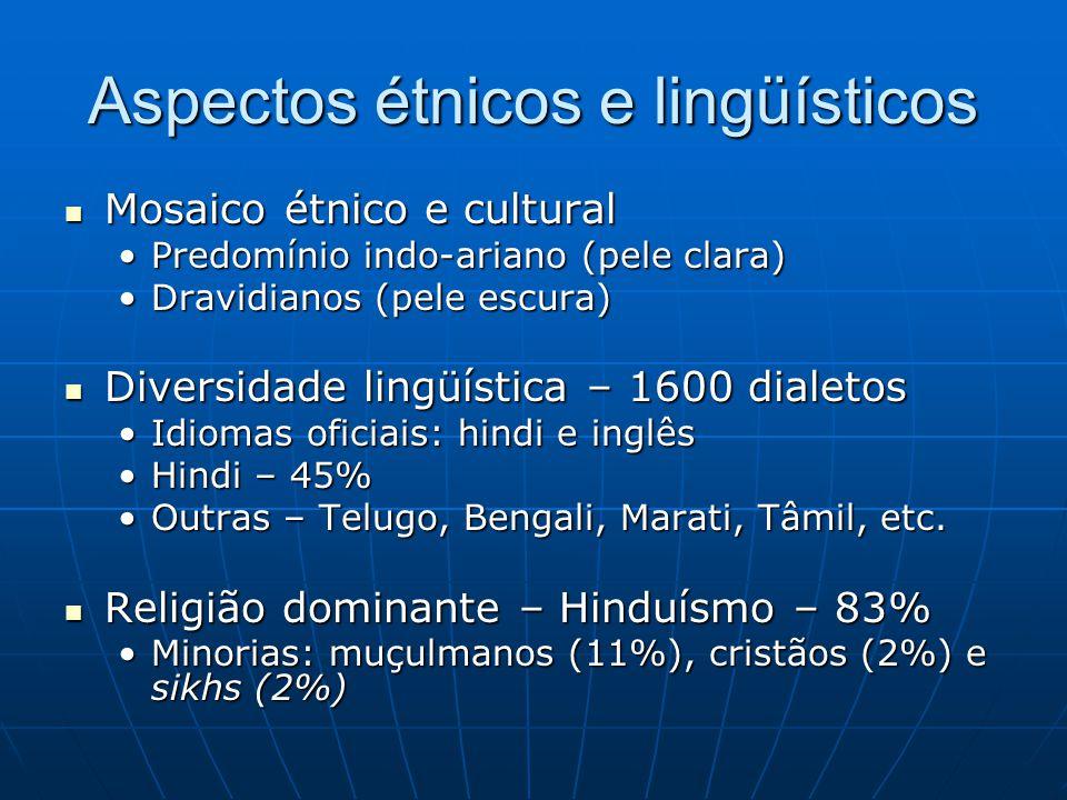 Aspectos étnicos e lingüísticos
