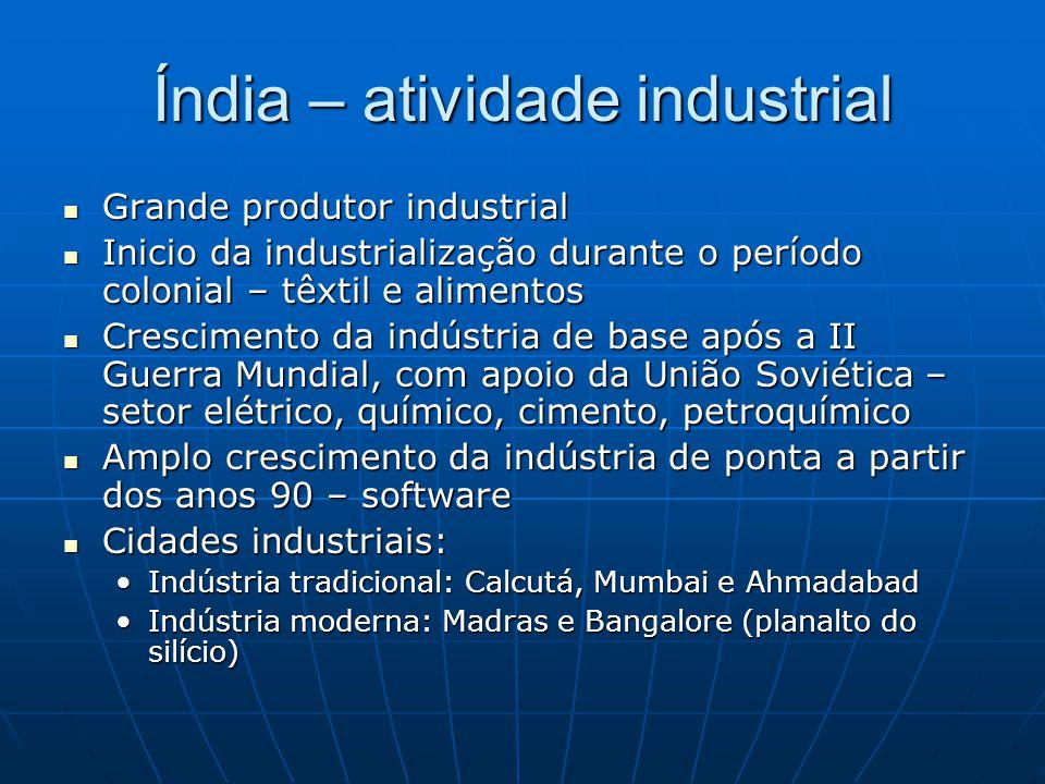 Índia – atividade industrial
