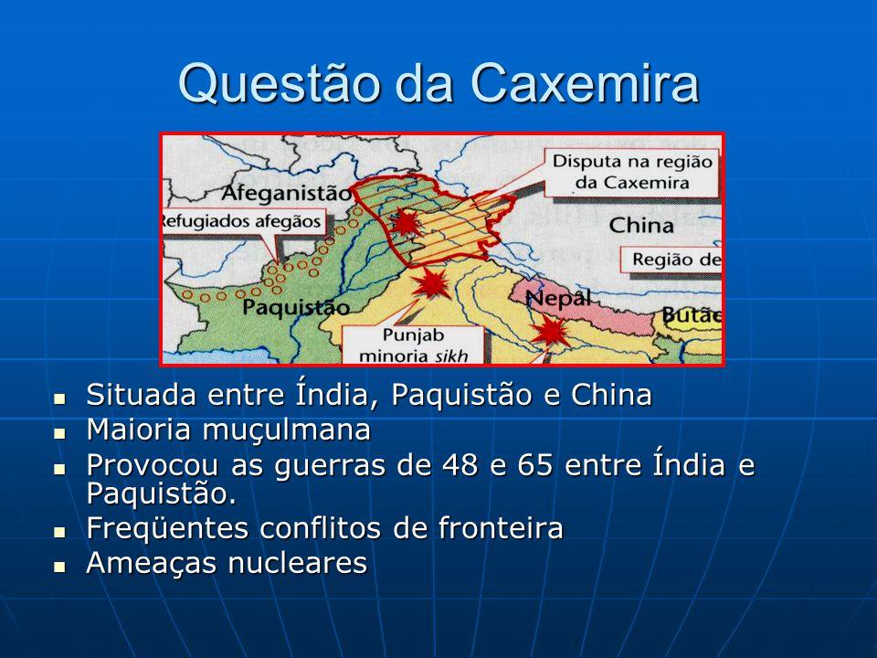 Questão da Caxemira Situada entre Índia, Paquistão e China