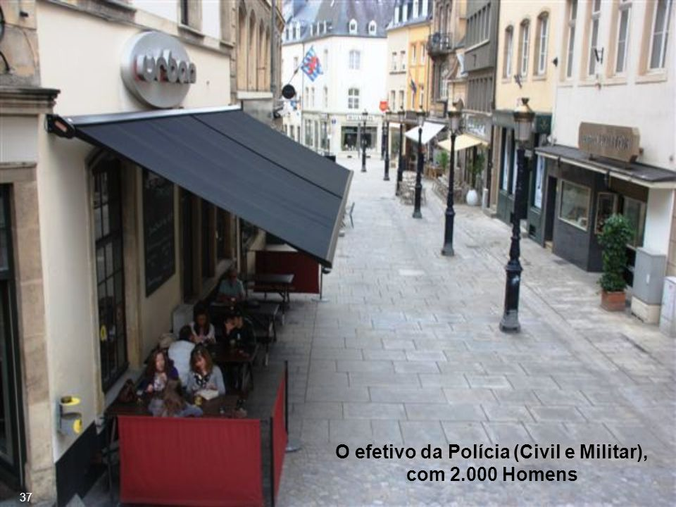 O efetivo da Polícia (Civil e Militar), com 2.000 Homens