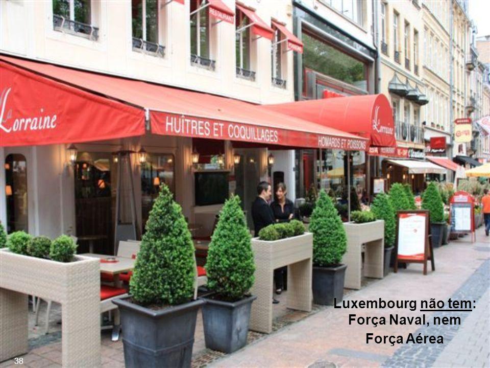 Luxembourg não tem: Força Naval, nem Força Aérea