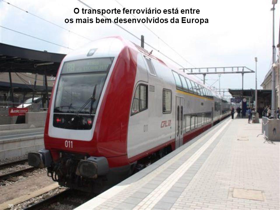 O transporte ferroviário está entre os mais bem desenvolvidos da Europa