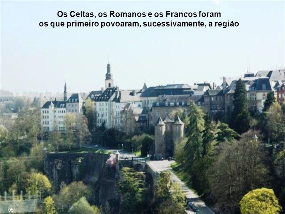 Os Celtas, os Romanos e os Francos foram os que primeiro povoaram, sucessivamente, a região