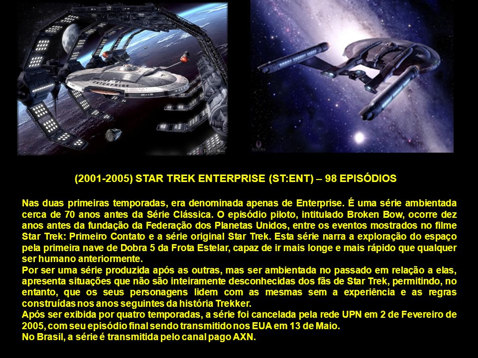 (2001-2005) STAR TREK ENTERPRISE (ST:ENT) – 98 EPISÓDIOS