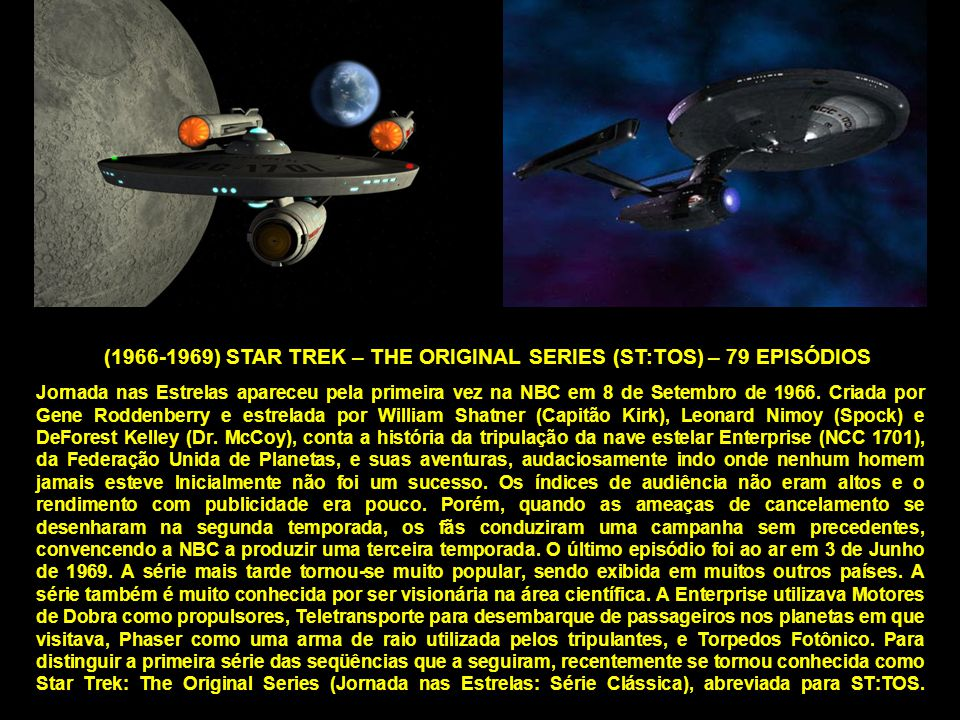 (1966-1969) STAR TREK – THE ORIGINAL SERIES (ST:TOS) – 79 EPISÓDIOS