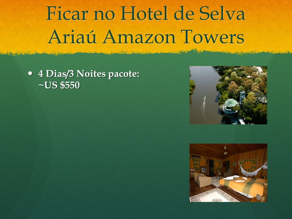 Ficar no Hotel de Selva Ariaú Amazon Towers