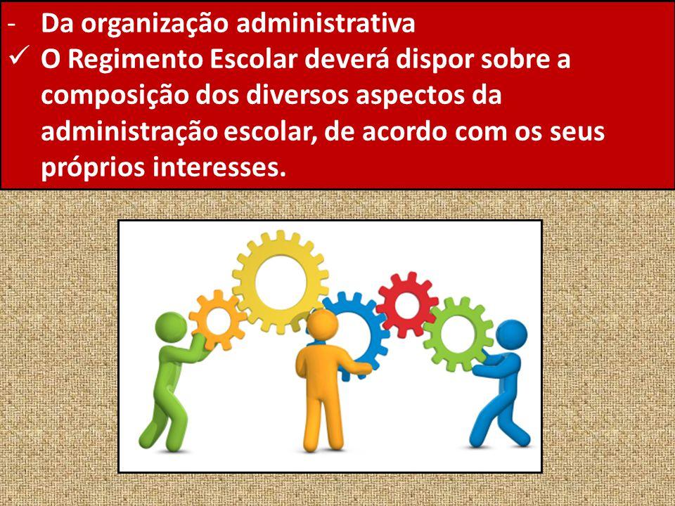 Da organização administrativa