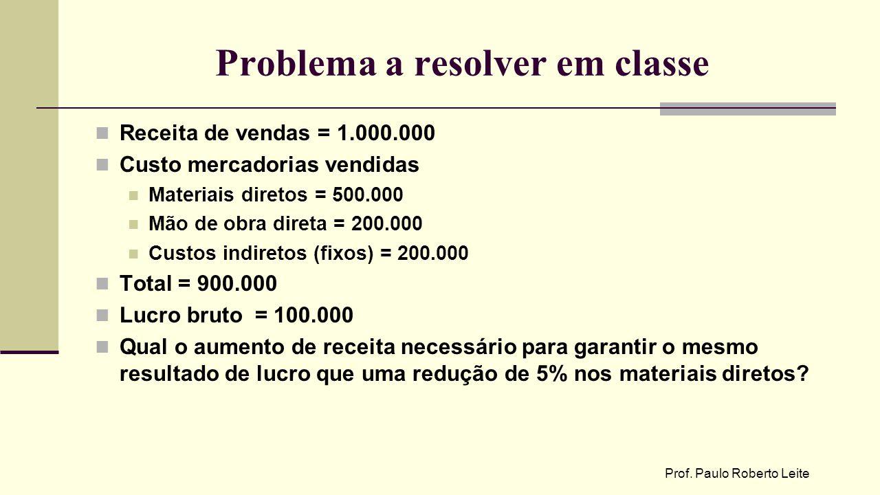 Problema a resolver em classe