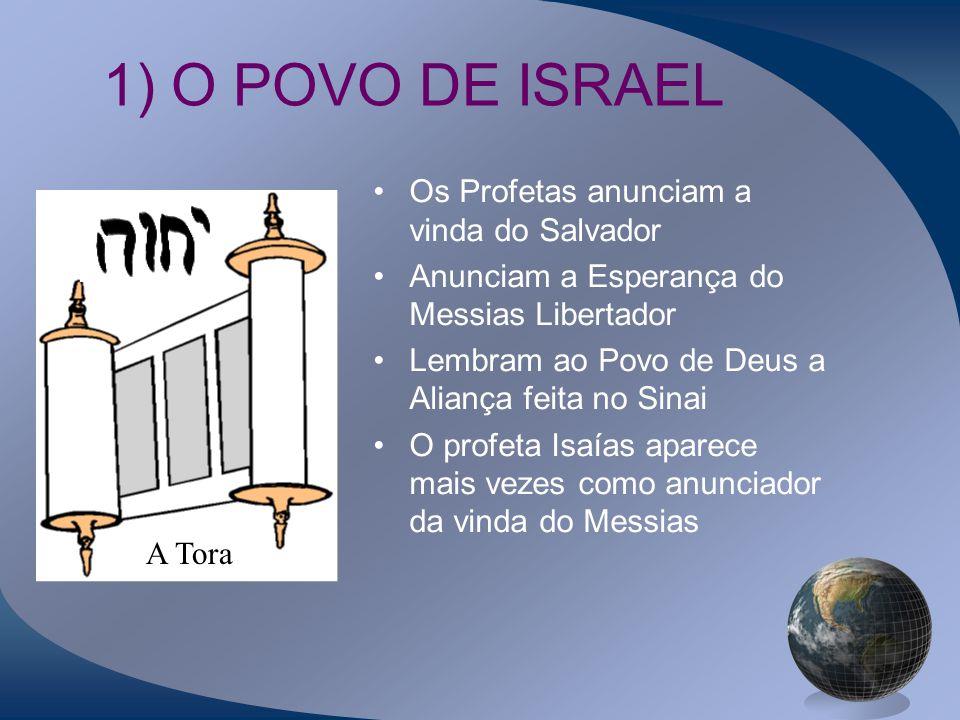1) O POVO DE ISRAEL Os Profetas anunciam a vinda do Salvador