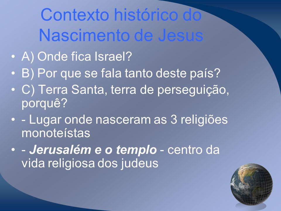 Contexto histórico do Nascimento de Jesus