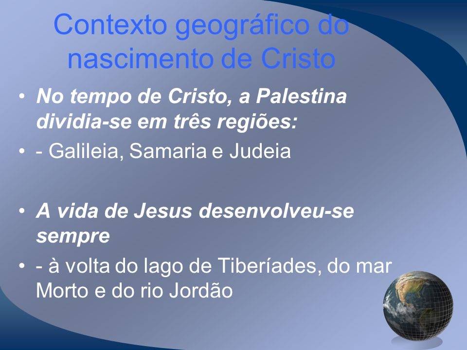 Contexto geográfico do nascimento de Cristo