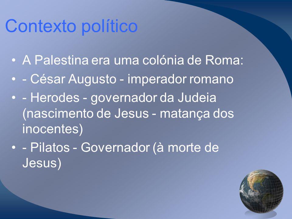 Contexto político A Palestina era uma colónia de Roma: