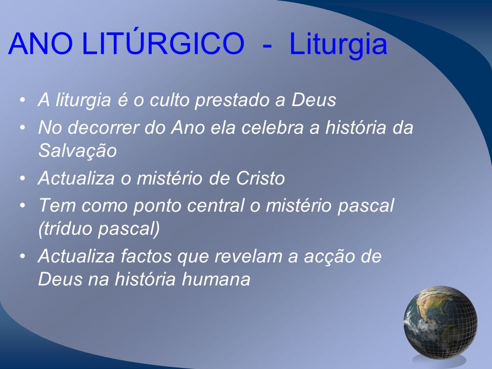 ANO LITÚRGICO - Liturgia