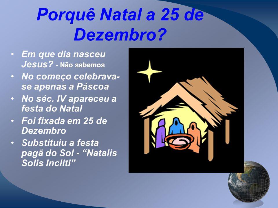 Porquê Natal a 25 de Dezembro