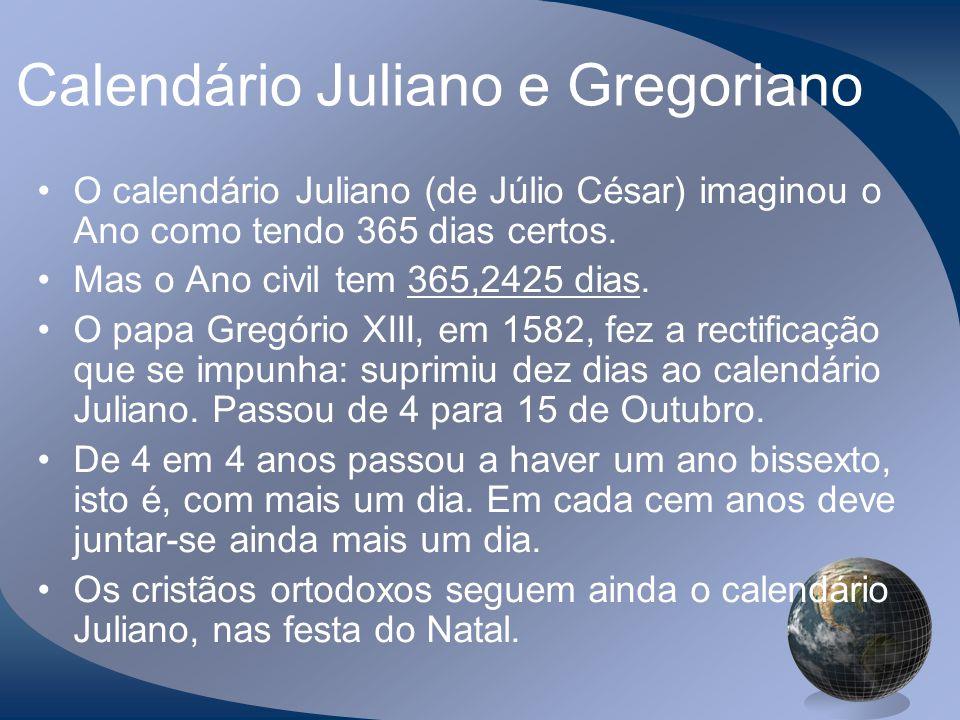 Calendário Juliano e Gregoriano