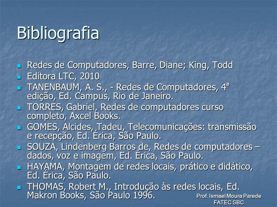 Bibliografia Redes de Computadores, Barre, Diane; King, Todd