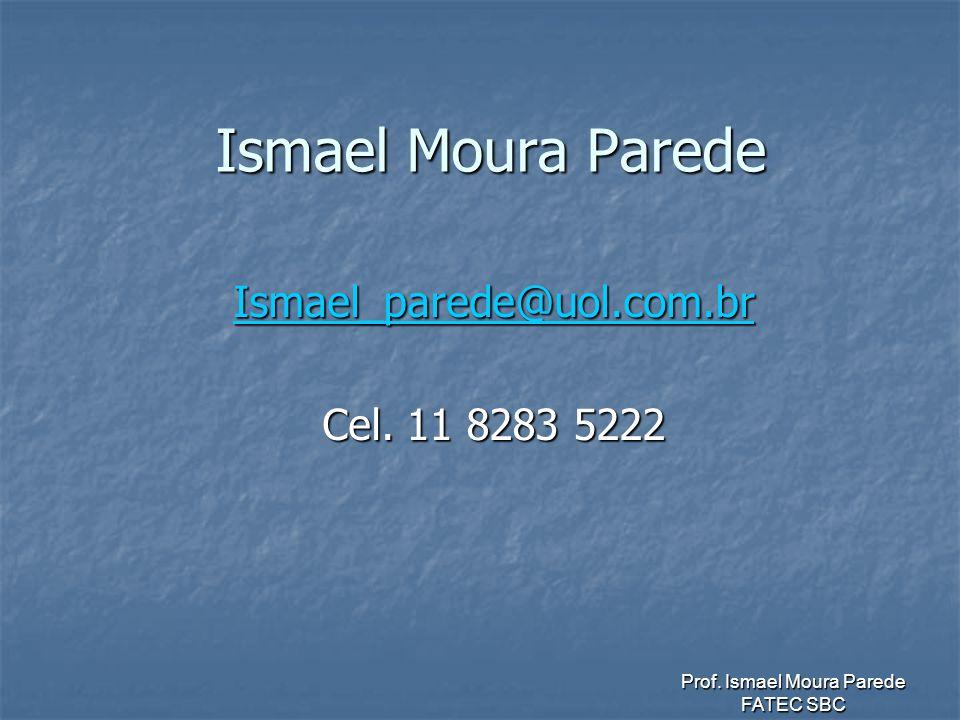Ismael_parede@uol.com.br Cel. 11 8283 5222