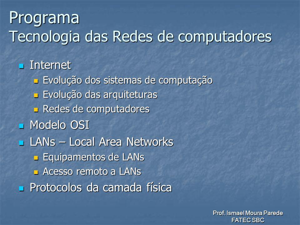 Programa Tecnologia das Redes de computadores