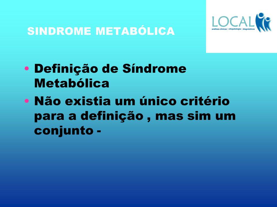 Definição de Síndrome Metabólica